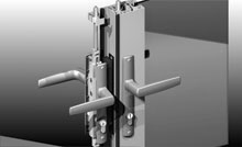 A full range of hardware available including multiple 4-point locking mechanisms.