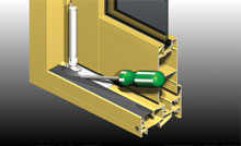 Door panels can be adjusted up, down and sideways.