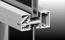 Reinforced glazing bead standard on Series 424. Spandrel adapter also available, as detailed.