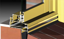 Unique sash rail stiffener, accepts high wind load and inhibits sash deflection.