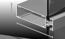 Consistent glazing line is a feature of all AWS Commercial products.<br />