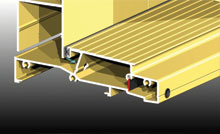 In addition to external and low rise sills, the internally opening threshold is self-draining.