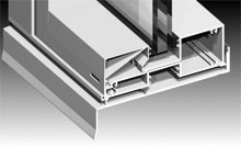 Central leg supports the ever increasing weights of insulated glass units.