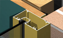 Series 80 maintains the same glazing line as 400 series framing, with a variety of jamb options.