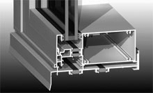 Sub-sill designed to support heavy double glazed frames and maintain the thermal break.