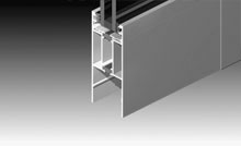 Dedicated threshold for external opening doors when you are looking for water resistance.