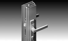 40mm wide backset lever compression lock with 316-grade stainless steel ICON™ furniture.