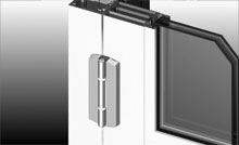 The doors have been designed to accept an adjustable heavy duty hinge.