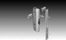 38mm wide backset commercial lever lock with 316-grade stainless steel furniture.