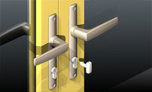 ANDO&trade; door locks come standard with turn snib keys.<br><br>