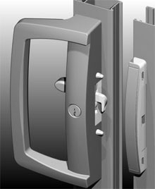 ANDO™ Sliding Door lock can be supplied in a range of standard and special powder coat finishes to match the door framing.