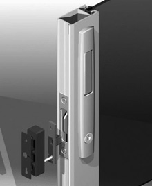 ANDO™ Sliding Window mortice lock is easily opened by depressing the push button. To lock depress the pull handle. Key lockable.