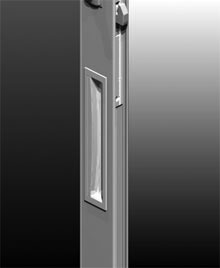 ICON™ Flush Pulls are recessed into the door stile giving a lowline flush appearance. The pull projects only 2mm above the face of the stile.