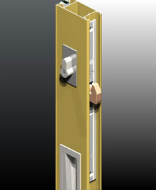 When using ISEO™ mortice lock on residential doors we can match the 2mm thick pull handle face plate with 2mm thick escutcheons.