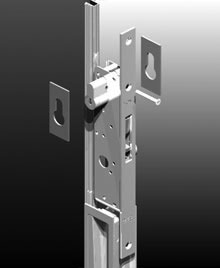 The escutcheon is secured to door stile with thin double side tape.<br><br>