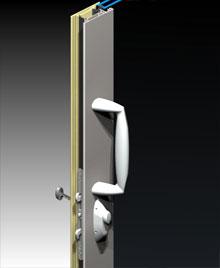 Sliding Door Pull Handle MIRO Hardware ThermalHEART AWS